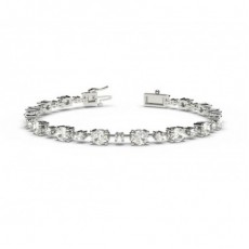 Mixed Shapes Platinum Tennis Bracelets