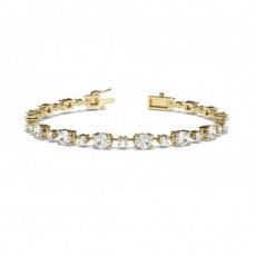 Mixed Shapes Yellow Gold Tennis Bracelets