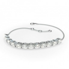 4 Prong Setting Oval Diamond Delicate Bracelet