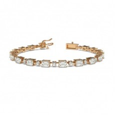 Mixed Shapes Rose Gold Tennis Bracelets