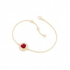 Round Yellow Gold Delicate Bracelet