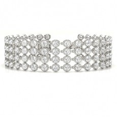 4 Row Prong Set Tennis Bracelet