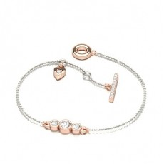Round Rose Gold Everyday Bracelets