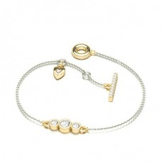 Round Yellow Gold Everyday Bracelets