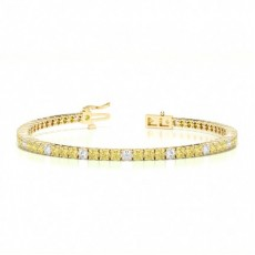 Yellow Gold Diamond Tennis Bracelet