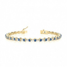Yellow Gold Gemstone Bracelets