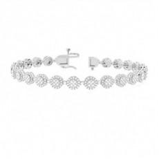 Prong Round Diamond Designer Bracelet