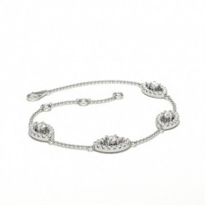 Mixed Shapes Platinum Delicate Bracelet