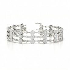 Platinum Evening Bracelets