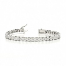 Illusion Set Diamond Tennis Bracelet
