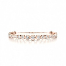 Mixed Shapes Rose Gold Diamond Bracelets
