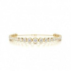Mixed Shapes Yellow Gold Diamond Bracelets