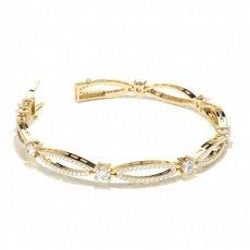 Yellow Gold Designer Diamond Bracelet