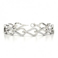 White Gold Evening Bracelets