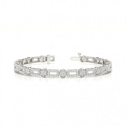 Shared Prong Setting Round Diamond Everyday Bracelet