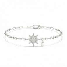 Micro Pave Round Diamond Everyday Bracelet