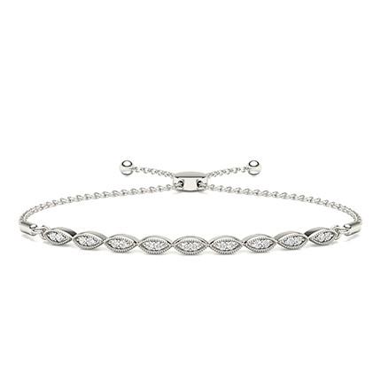 Micro Prong Setting Diamond Everyday Bracelets