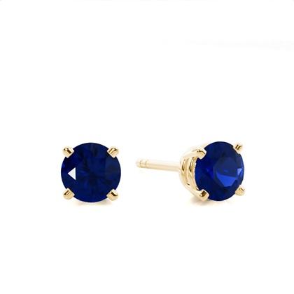 Yellow Gold Sapphire Earrings