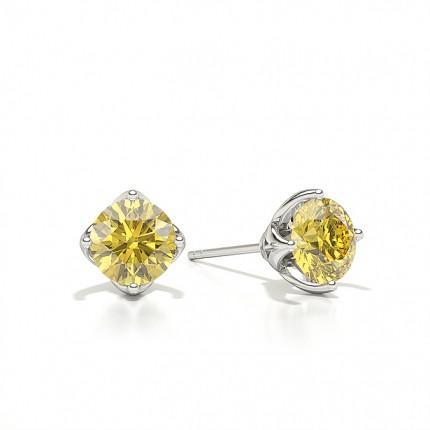 Stud Yellow Diamond Earring