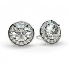 Multi Diamant Ohrstecker in einer Krappenfassung