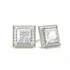 Princess Diamond Earrings