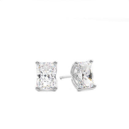 Radiant Stud Diamond Earrings