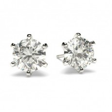 Round Stud Diamond Earrings