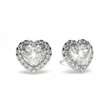 3 Prong Setting Diamond Earrings