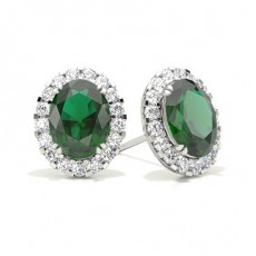 Oval Diamond Earrings