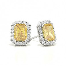 Radiant Yellow Diamond Earrings