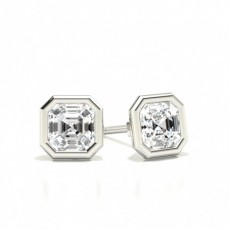 Asscher Diamond Earrings