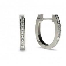 Round Platinum Hoop Earrings
