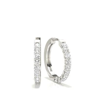 beste Angebote für viele modisch Durchsuchen Sie die neuesten Kollektionen Runde Diamant Creolen in einer 4er-Krappenfassung