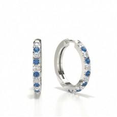 Gemstone Diamond Earrings