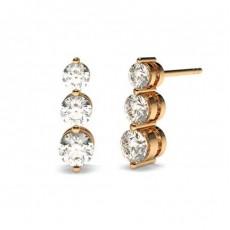Rose Gold Journey Earrings