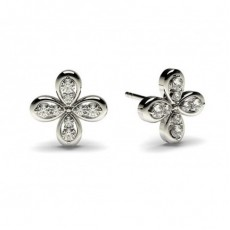 0.15ct. 3 Prong Setting Round Diamond Delicate Earrings