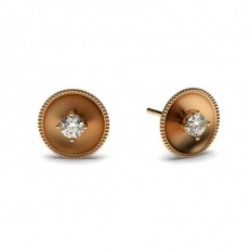 0.10ct. 4 Prong Setting Round Diamond Delicate Earring