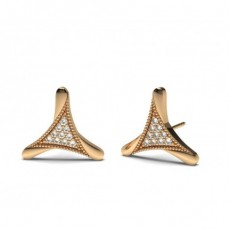 0.15ct. Pave Setting Round Diamond Delicate Earring