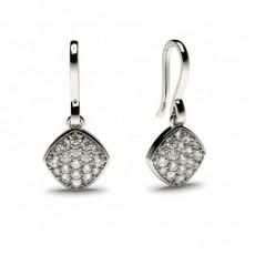 White Gold Round Diamond Delicate Earring