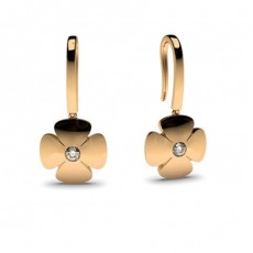 0.10ct. Full Bezel Setting Round Diamond Delicate Earring