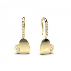 Yellow Gold Diamond Earrings