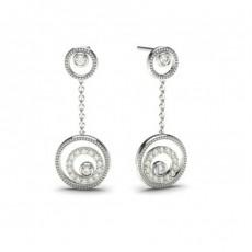 Full Bezel Setting Diamond Earrings
