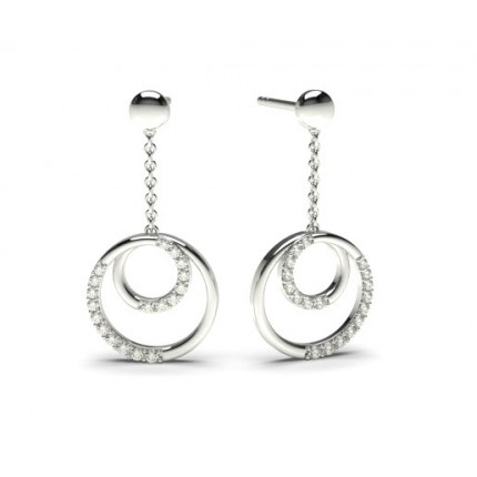 0.15ct. Prong Setting Round Diamond Delicate Earring