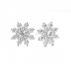 Prong Setting Diamond Earrings