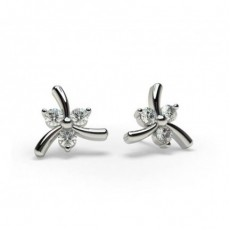2 Prong Setting Diamond Earrings
