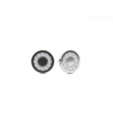 Round Silver Cluster Earrings