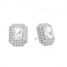 Radiant Diamond Earrings