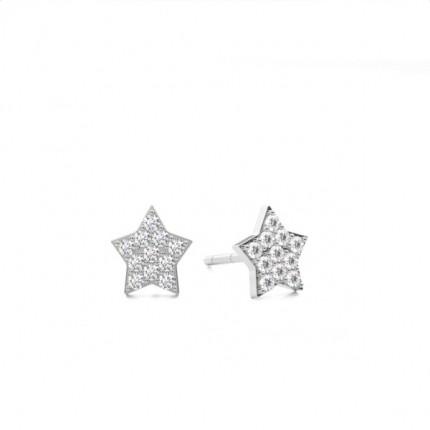 Pave Setting Round Diamond Drop Earrings