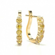 Yellow Gold Yellow Diamond Earrings