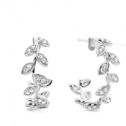 31fd057a87c690 Buy White Gold Round Diamond Designer Earrings Online - Diamonds Factory  Ireland